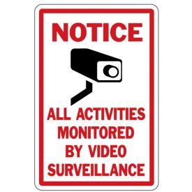 Notice Video Surveillance sign image