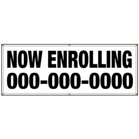 NOW ENROLLING With Custom Phone Number banner image