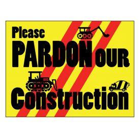 Pardon our Construction 2 sign image