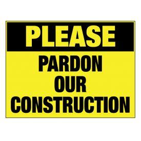 Pardon our Construction sign image