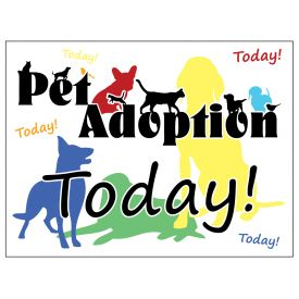 Pet Adoption yard sign image