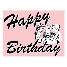Pink Happy Birthday sign image