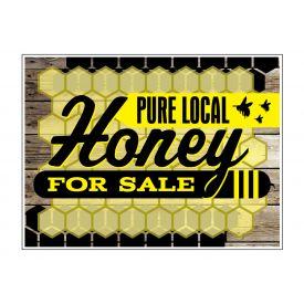 Pure Local Honey wood grain sign image