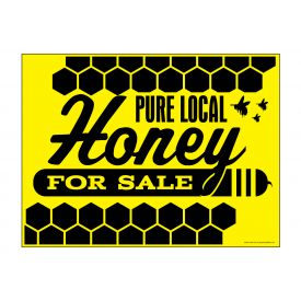 Pure Local Honey sign image