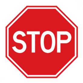 Plastic stop sign image