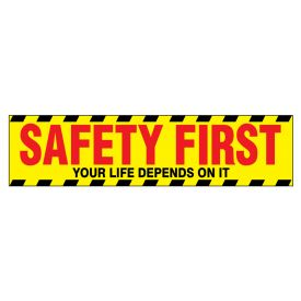 Safety First 2 polystyrene poster