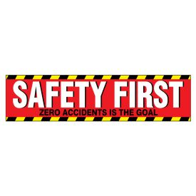 Safety First 3 polystyrene poster