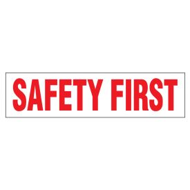 Safety First 1 polystyrene poster