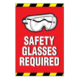 Safety Glasses Required sign image