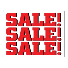 SALE SALE SALE sign image