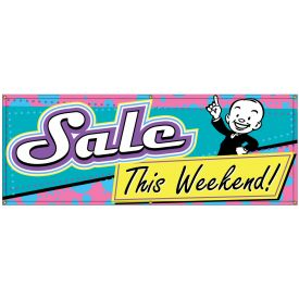 Sale This Weekend Retro banner image