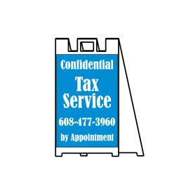 Confidential Tax Service sign image