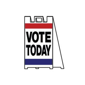 Vote Today signicade sign