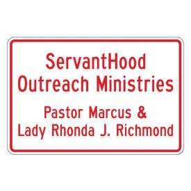 ServantHood Outreach Horizontal sign image