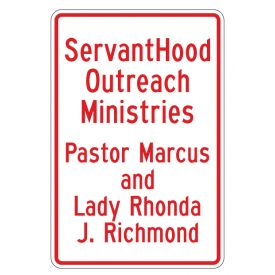 ServantHood Outreach Vertical sign image