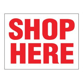 Shop Here sign image