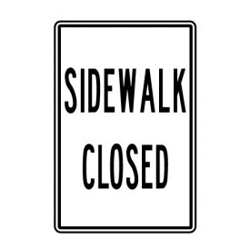Sidewalk Closed sign image