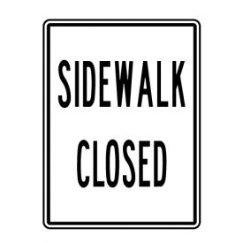 Sidewalk Closed 24x18 sign image