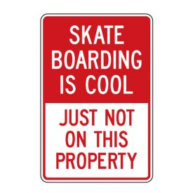 Skateboarding is Cool sign image