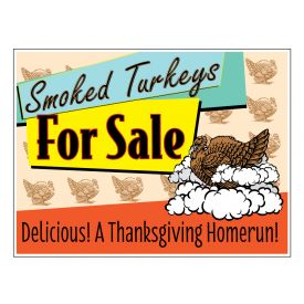 Smoked Turkeys sign image