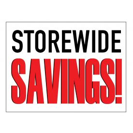 Storewide Savings sign image