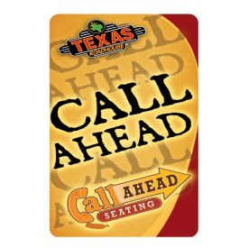 Call Ahead Seating sign image