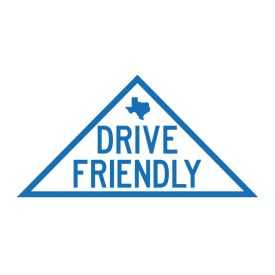 Drive Friendly decal sign image