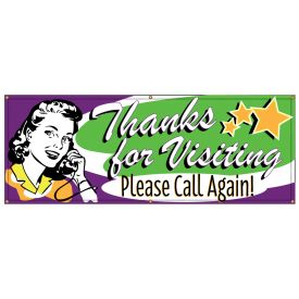 Thanks For Visiting Retro banner image
