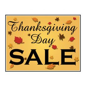 Thanksgiving Day Sale yard sign image
