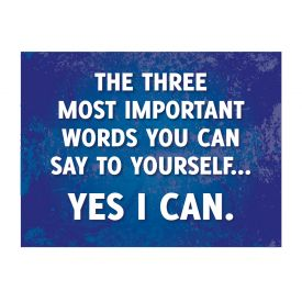 Three Most Important Words Poster print image