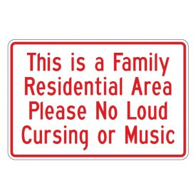 Family Residential Area 12x18 sign image