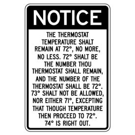 Thou Thermostat Temperature sign image