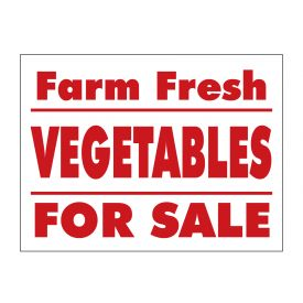 Farm Fresh Vegetables sign image