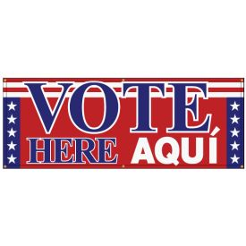 Vote Here Aqui banner image
