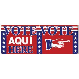 Vote Here Aqui Right banner image