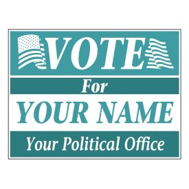 Vote For You teal sign image