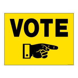 Vote Today Right sign image