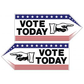 Vote Today spinner sign image