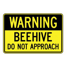 Warning Beehive sign image
