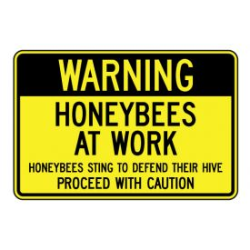 Warning Bees At Work sign image