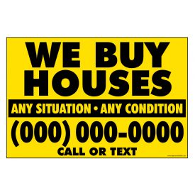 We Buy Houses Y&B Gen sign image