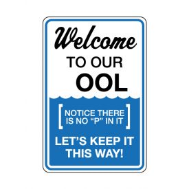 Welcome To Our Pool sign image