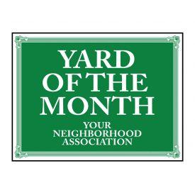 Yard of the Month Neighborhood Association sign image
