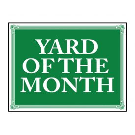 Yard of the Month Aluminum sign image