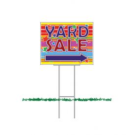 Yard Sale RL Arrow sign image