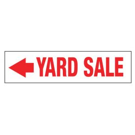 Yard Sale left directional sign image