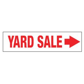 Yard Sale Right directional sign image