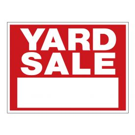 Yard sale R&W sign image