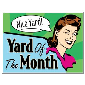 Yard of the Month retro yard sign image