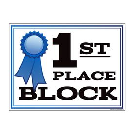 1st Place Block yard sign image